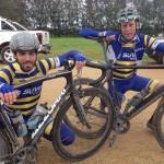 Jesse and Pete looking a bit Paris-Roubaix!