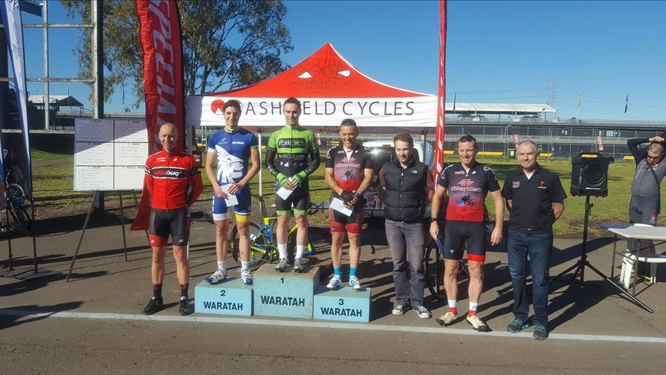 The 2016 Ashfield Cycles Specialized A-Grade Podium