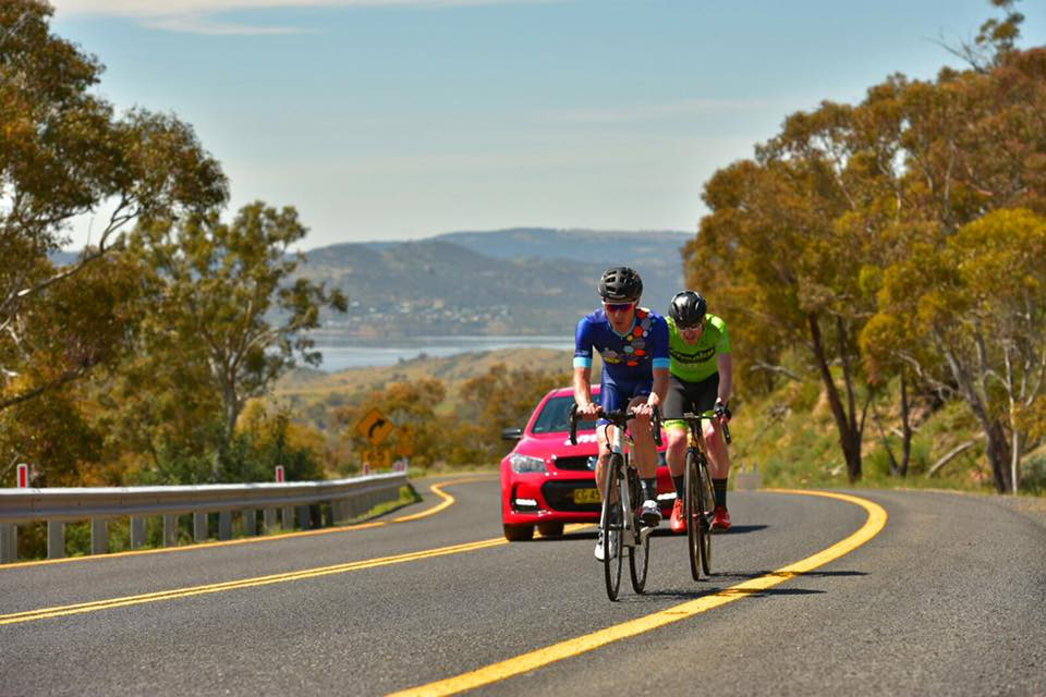 Chris Miller on the road at L'Étape Australia
